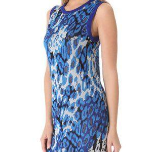 Club Monaco Charlie Blue Leopard Print Mini Dress